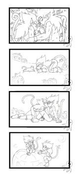 Halloween Cats -Outlines- by xH-Chanx