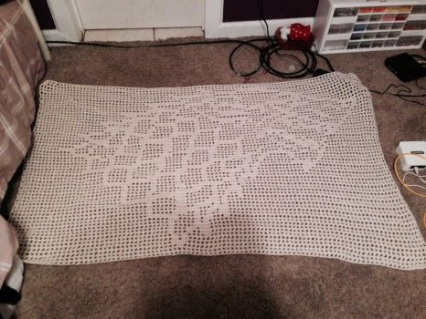Game Of Thrones House Stark Crochet Blanket by DarkRisque