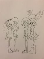 Lori and Leni meets Solar and Lunar by JackJack2017