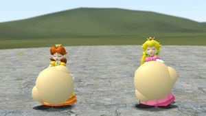 Peach and Daisy's royal meals (Vore) by voreguy529