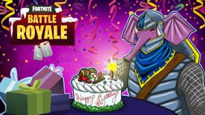 Fortnite BR Gorillaphent Birthday by LordMaru4U