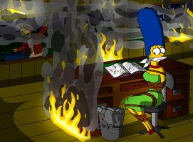 Marge Simpson the Witness by Fusilli-Jerry