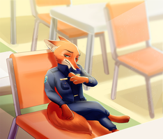 I save a seat for you. by Weketa