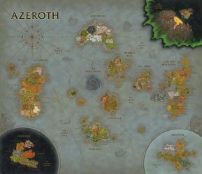 World of Warcraft Map Composition (BfA Update) by Sub-Thermal