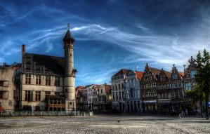 Ghent - under the arching sky by aglezerman