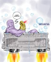 Thanos Demands more Bubbles by Mark-Clark-II