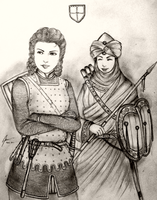 Women Warriors of the Kingdom of Iberia by Gambargin