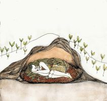 hibernation watercolour by lavender-lemonade