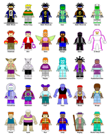 LEGO Static Shock Main Characters by Gamekirby