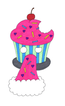 Puking Cupcake by heavy-metal-chick