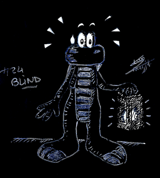Croc themed Inktober - #24 BLIND by ClaraKnight
