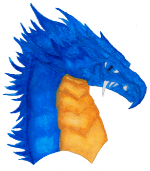 Dragon Water-Colour Painting by AbderianForge