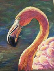 Pink Flamingo by jessijoke