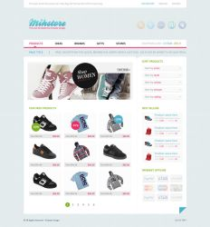 Mihstore - Shop PSD template by ICEwaveGfx