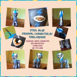 Steel Blue -Mlp clay custom by Timelord909