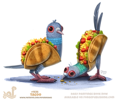 Daily Paint 1836# Tacoo by Cryptid-Creations