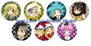 Buttons :: Soul Eater by khiro