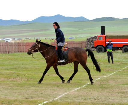 Riding Mongol Style by DaraBlack