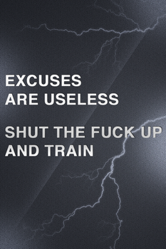 Excuses are useless.. STFU and train! by AmbroseFx