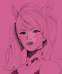Pink Mercy Shaded by CrazyZarsu