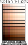 Skintone Palettes by blood-cocoa