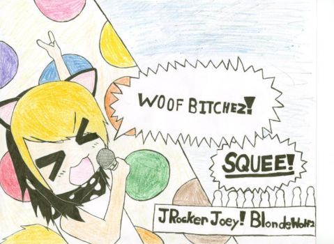 Jrocker Joey Blondewolf2 Color by SasukeUchihaLLawliet