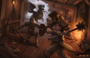 Fight in the Elverin Skulk Safe House by ChuchuaN