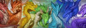 Spectrum of Dragons by The-SixthLeafClover