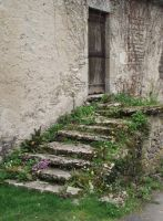 Montvalent - old stairs 02 by HermitCrabStock