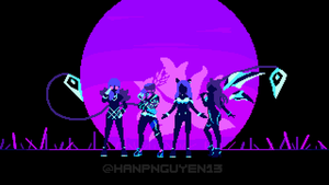 League of Legends KDA Neon by awh13
