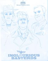 Inglourious Basterds Sketches by MichaelSchauss