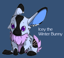 Icey the Winter Rabbit (My Mascot) by Selkina2000