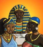 Queens of the Nile - Colored by TyrannoNinja