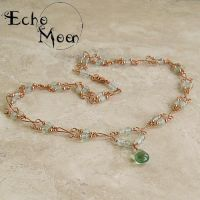 Prehnite and Fluorite Necklace by EchoMoonJewelry