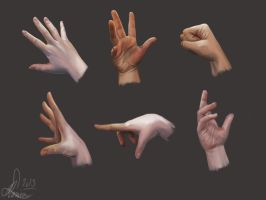 Hand study by MonsieArts