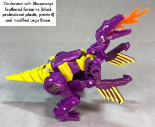 Cindersaur with feathered arms by dvandom
