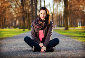 Ivana, sunset in park III by Zavorka