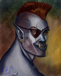 Character Portrait: Thrauk by teutelquessir