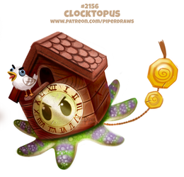 Daily Paint 2156. Clocktopus by Cryptid-Creations