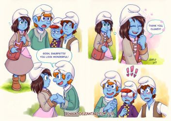 Smurfs AU: New Clothes p1-p2 by rinacat