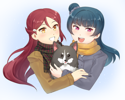 Riko, Yohane, and Nocturne/Laelaps by Gumwad201