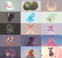 Mythical Pokemon Collection 2016 Collage