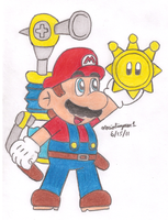 Mario's Shine Sprite by MarioSimpson1