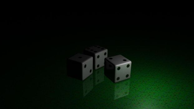 Dice on Green by cmw4416