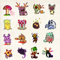 Cute Monsters by FlyingCarpets