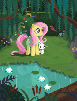 Happy Fluttershy Day 2017 by Lavendus