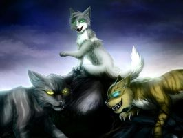 Warriors: The dark forest cats by Marshcold
