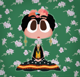 Frida Khalo but she's a Poptropican by ArtisticAsianBunny