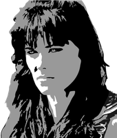Xena Portrait in Greyscale 1 by KarynRH