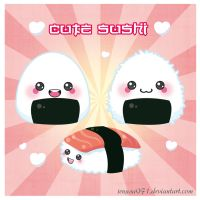 cute onigiri and sushi by jenysa971